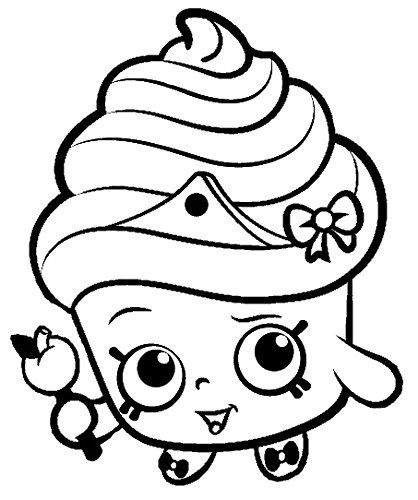 Shopkins clipart cupcake queen svg black and white shopkins cupcake queen black and white - Google Search | Postres e ... svg black and white
