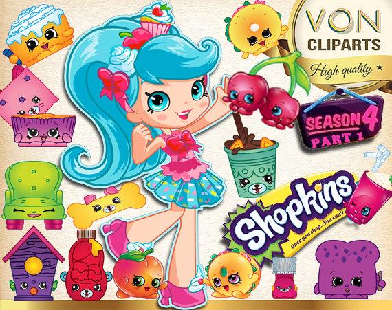 Shopkins clipart flag svg stock SALE! 42 Shopkins Season 4 Clipart PNG Shopkins Digital Graphic ... svg stock