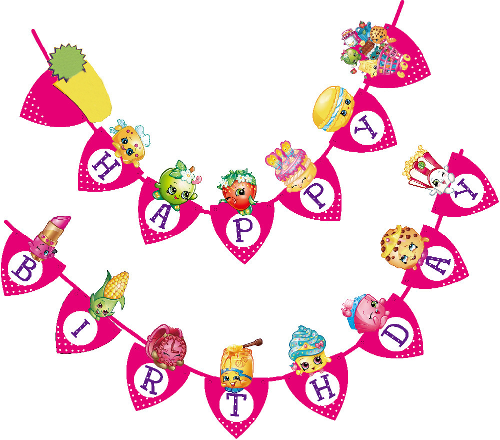 Shopkins clipart flag image transparent library Popular Shopkins Birthday Party Supplies-Buy Cheap Shopkins ... image transparent library