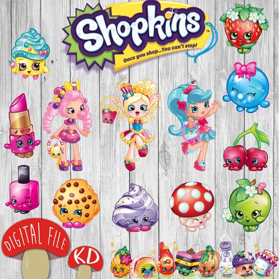 Shopkins clipart flag vector library 51 Shopkins Clipart PNG images - DIY Instant Download Printable ... vector library
