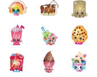 Shopkins clipart season 1 vector transparent stock Bottle Cap Images 1 Inch 4 X 6 Shopkins Season 3 Polka Dots Buy 3 ... vector transparent stock