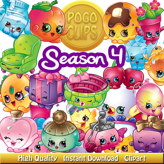 Shopkins clipart season 5 clip free library 80 Shopkins Fruit and Vegetables Characters / Clip Art DIY Instant ... clip free library