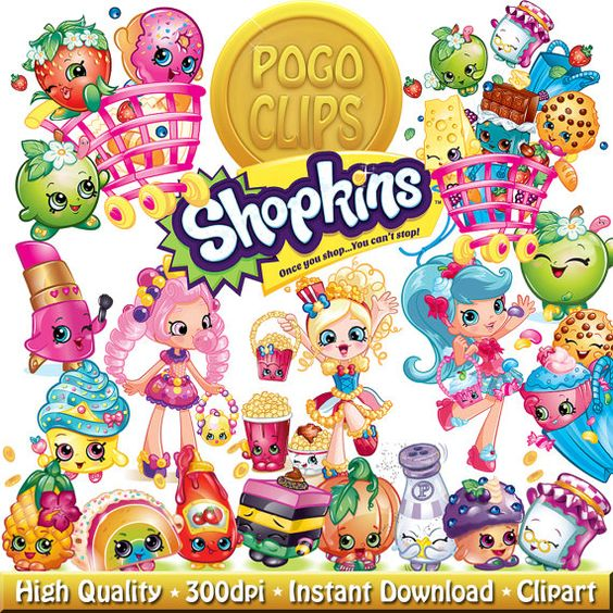 Shopkins clipart snow crush clip art black and white stock 50 High quality Shopkins / Clip Art DIY Instant Download Printable ... clip art black and white stock