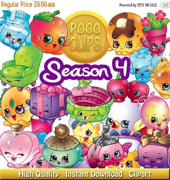 Shopkins clipart snow crush svg freeuse stock SALE 168 Shopkins clipart Season 4 Characters / Clip Art DIY ... svg freeuse stock