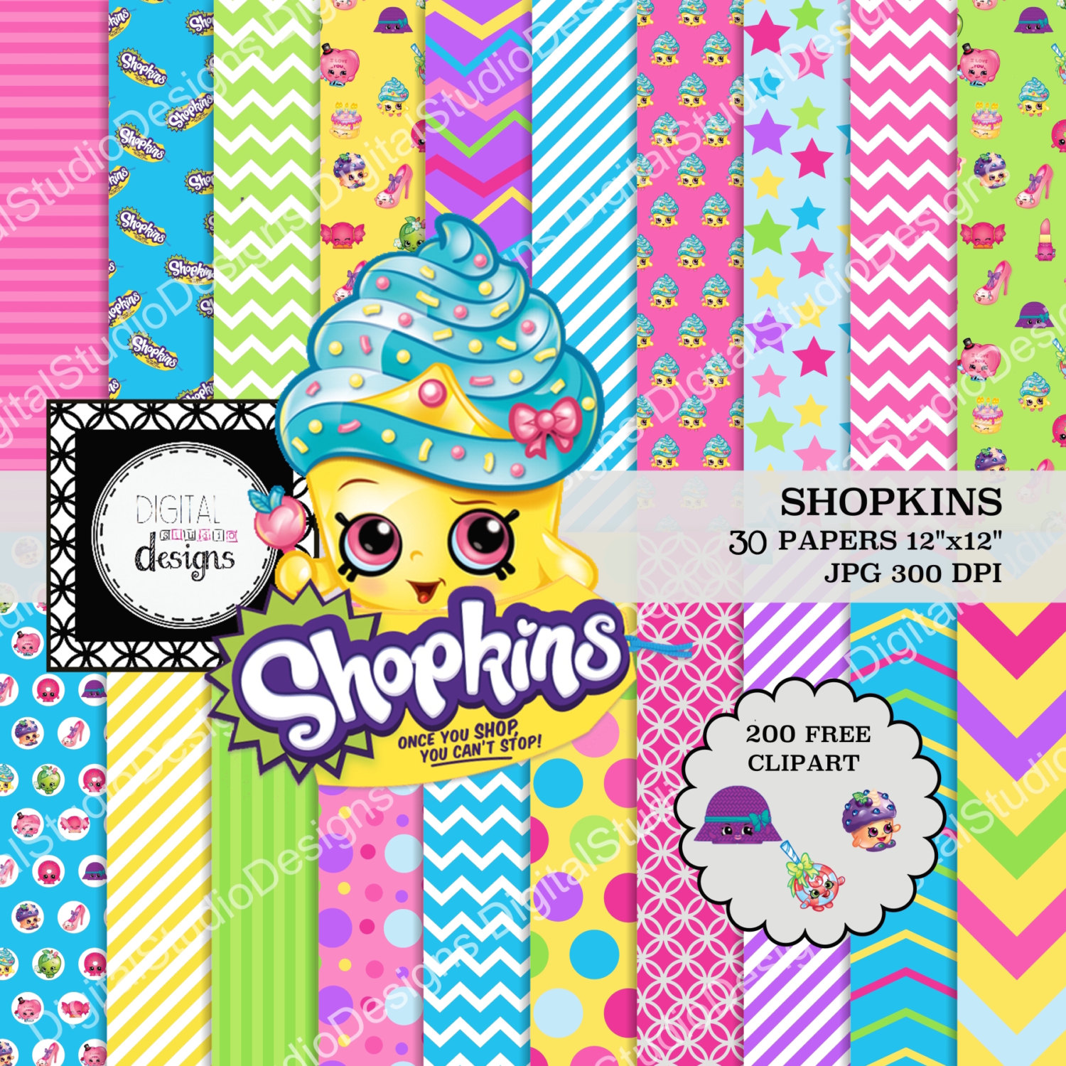 Shopkins clipart to print download Shopkins printable clipart - ClipartFest download