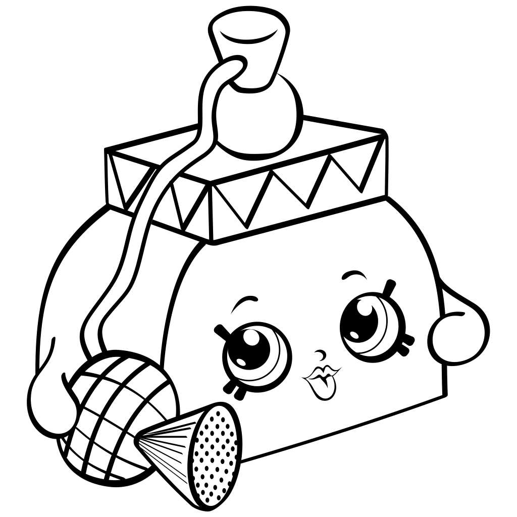 Shopkins clipart to print png free stock Shopkins clipart black and white - ClipartFest png free stock
