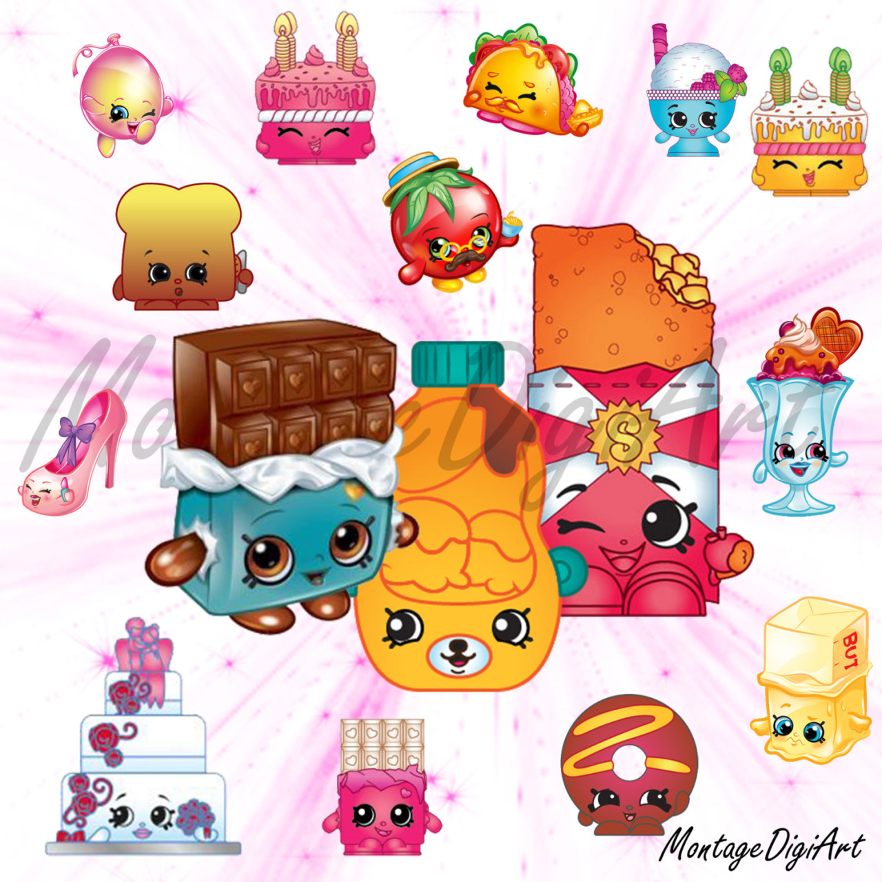 Shopkins clipart to print jpg freeuse download Digital Art For All You Robots — 215 Shopkins Clipart- printable ... jpg freeuse download