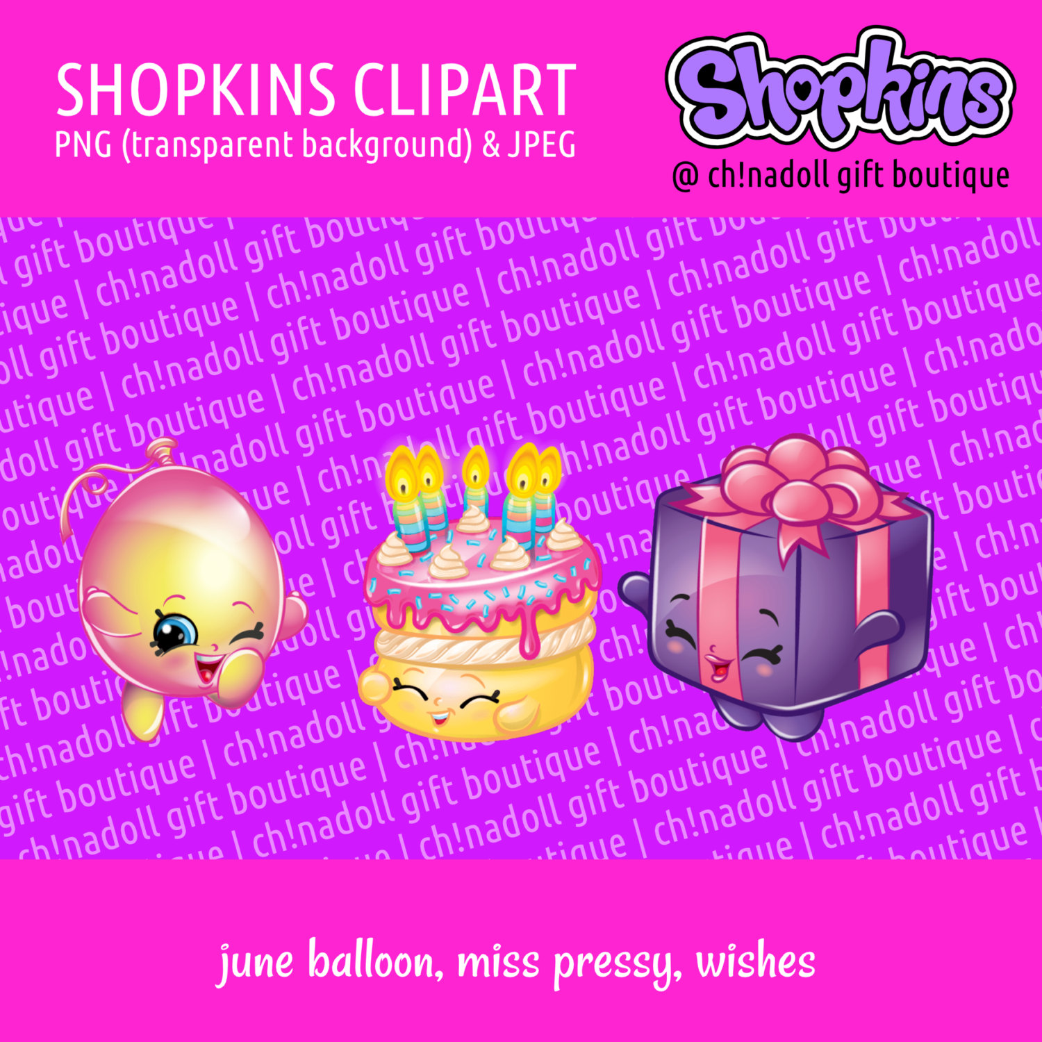 Shopkins clipart transparent background clip art library stock Shopkins clipart party wishes miss pressy june by chinadollparty clip art library stock
