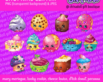 Shopkins clipart transparent background vector library download Shopkins clipart | Etsy vector library download