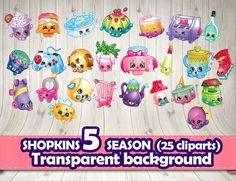 Shopkins clipart transparent background royalty free stock 194 Shopkins clipart Season 1 Characters / Clip Art DIY Instant ... royalty free stock