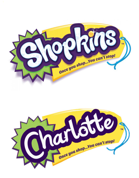 Shopkins logo clipart vector black and white Edible Shopkins Logo x 2 printed on Icing Sheet vector black and white