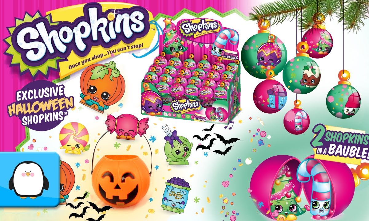 Shopkins pumpkin clipart picture black and white library Shopkins Halloween and Christmas Ornament Bauble Exclusive 2 Pack ... picture black and white library