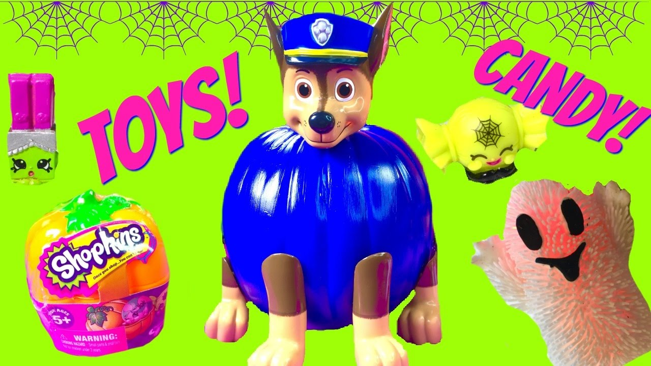 Shopkins pumpkin clipart graphic library library Paw Patrol Chase Halloween Pumpkin Full of Toy Surprises and Candy ... graphic library library