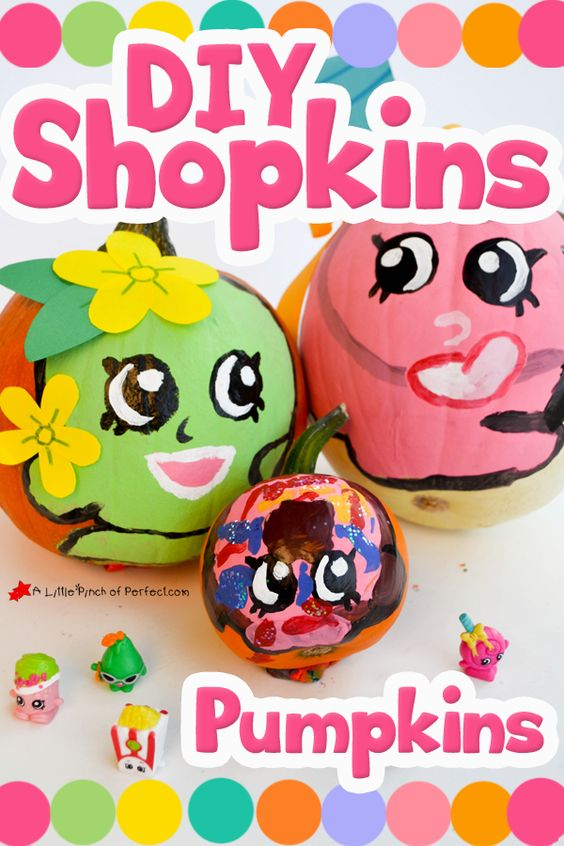 Shopkins pumpkin clipart clip art transparent download Cute No Carve Pumpkin Ideas for Halloween with Shopkins Characters ... clip art transparent download