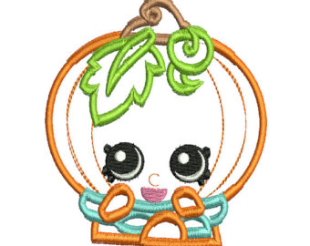 Shopkins pumpkin clipart black and white shopkins embroidery design – Etsy SE black and white