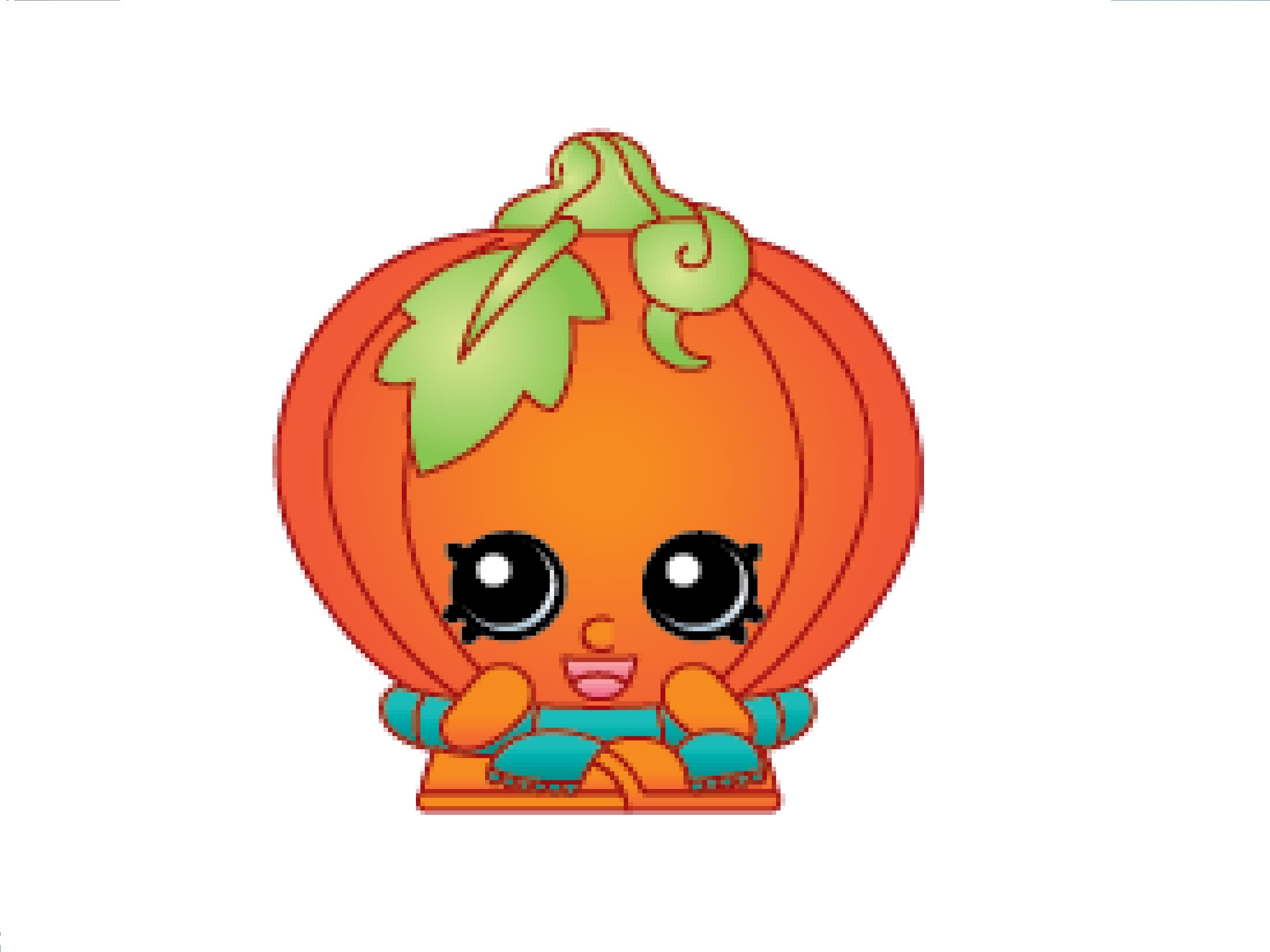 Shopkins pumpkin clipart svg royalty free download How to Draw a Pumpkinella / Как нарисовать Pumpkinella - YouTube svg royalty free download