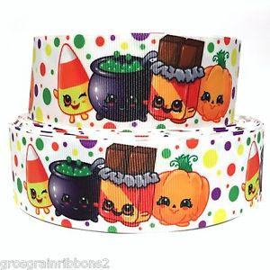 "Shopkins pumpkin clipart jpg royalty free stock GROSGRAIN RIBBON 1.5"" SHOPKINS HALLOWEEN PUMPKIN PUMPKINS ... jpg royalty free stock"