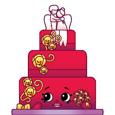 Shopkins season 3 clipart graphic free Shopkins #3-017 - Wendy Wedding Cake - a Rare Shopkin graphic free