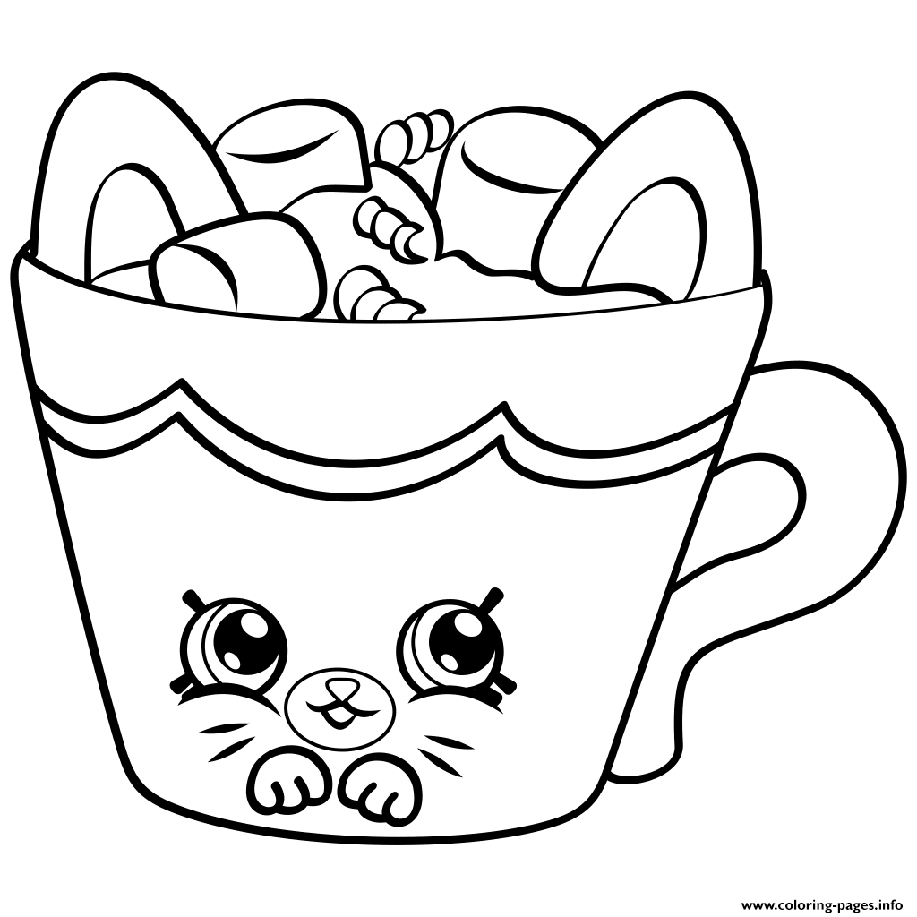 Shopkins season 4 clipart picture black and white stock Petkins Season Four shopkins season 4 Coloring pages Free Printable picture black and white stock