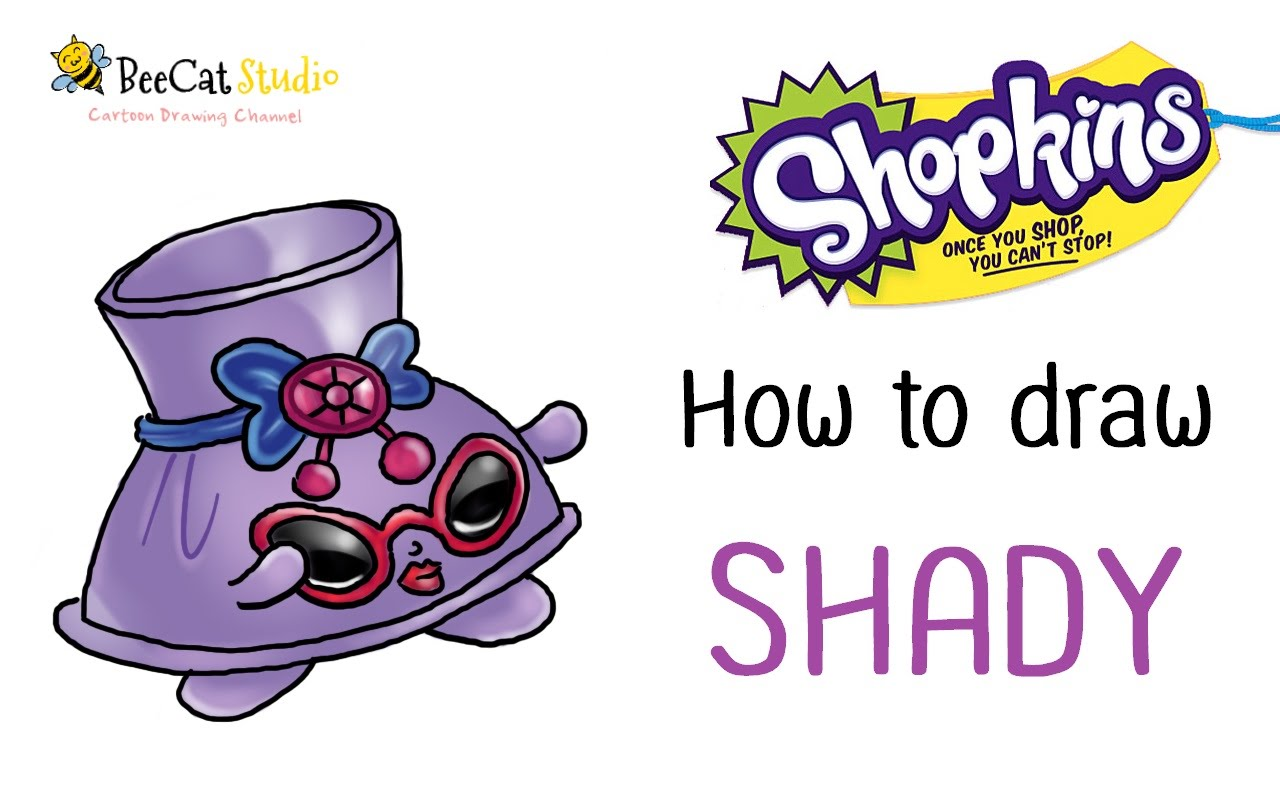 Shopkins shades character clipart clip free stock How to draw Shopkins season 3 | Shady - YouTube clip free stock