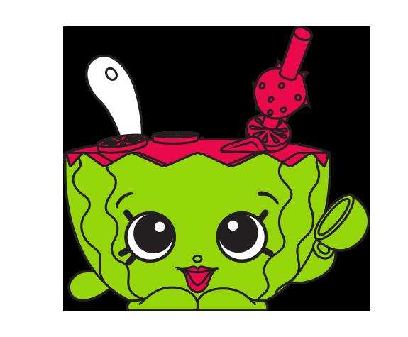 Shopkins watermelon clipart jpg library library Shopkins #7-042 - Mallory Watermelon Punch - a Common Shopkin jpg library library