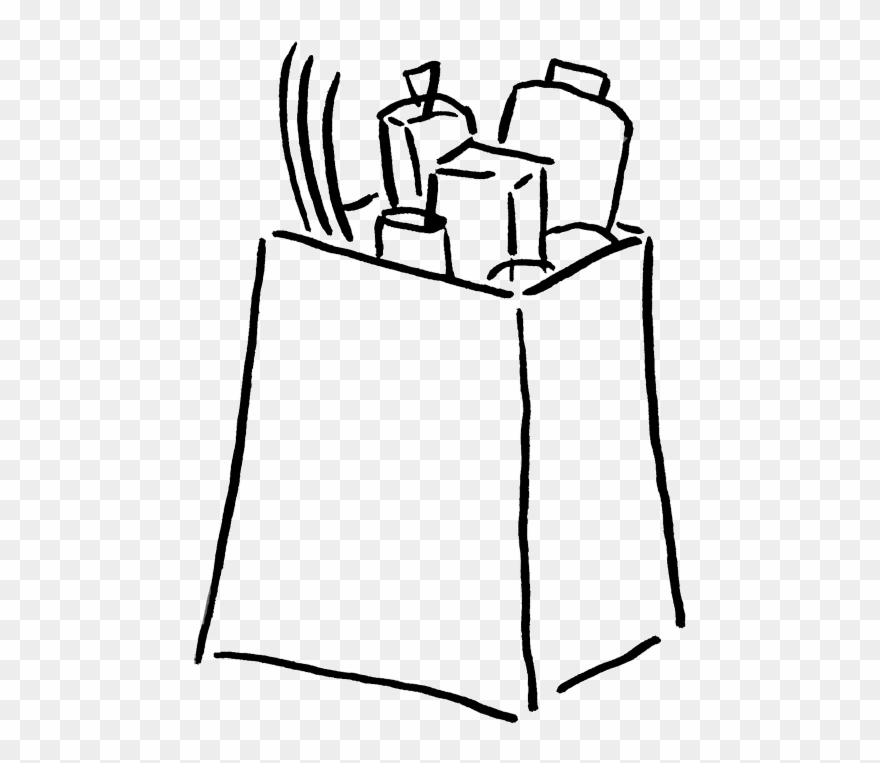 Shopping bag clipart black and white jpg free download Groceries Clip Art - Shopping Bag Clipart Black And White ... jpg free download