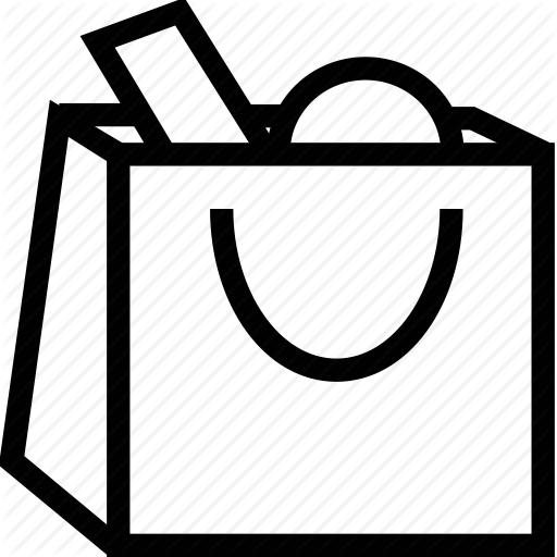 Shopping bag icon clipart png black and white stock Shopping Icon clipart - Shopping, Bag, Paper, transparent ... png black and white stock