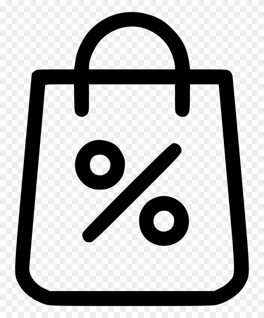 Shopping bag icon clipart vector transparent library Shopping Bag Shop Discount Percent Sale Comments - Shopping ... vector transparent library