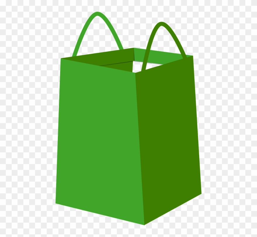 Shopping bag vector clipart jpg black and white library Vector Graphics - Green Shopping Bag Png Clipart (#596728 ... jpg black and white library
