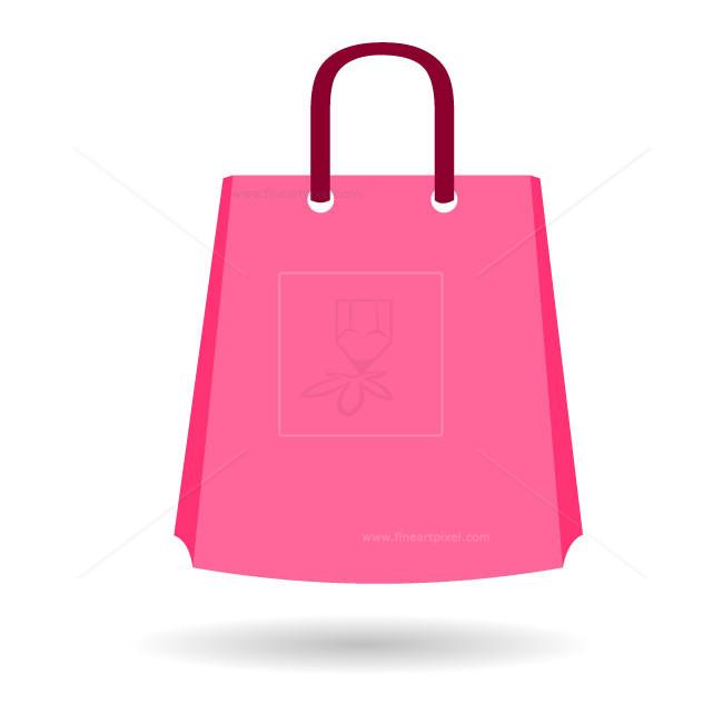 Shopping bag vector clipart banner library library Shopping bag vector stock | Free vectors, illustrations ... banner library library