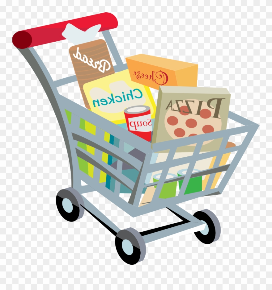 Shopping cart image clipart vector library download Full Grocery Cart Clipart Shopping Cart - Png Download ... vector library download