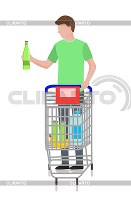 Shopping cart full of water bottles cart clipart clipart freeuse Supermarket | Stock Photos and Vektor EPS Clipart | CLIPARTO / 5 clipart freeuse