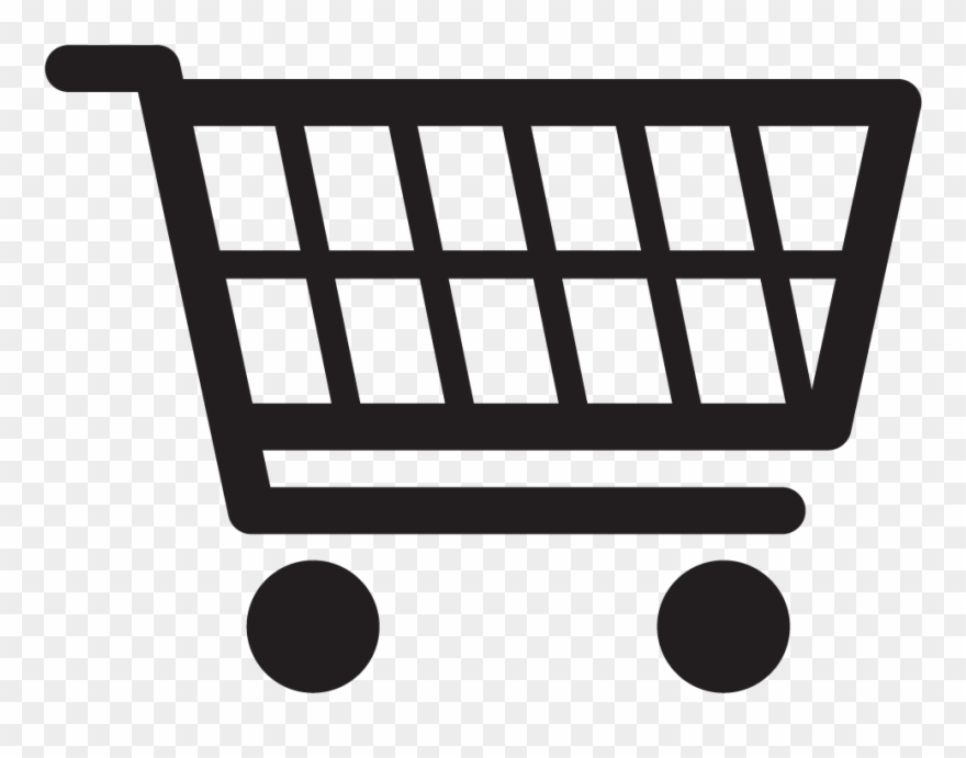 Shopping cart icon clipart clipart black and white Shopping Cart Icon - Supermarkt Symbol Clipart (#1877046 ... clipart black and white