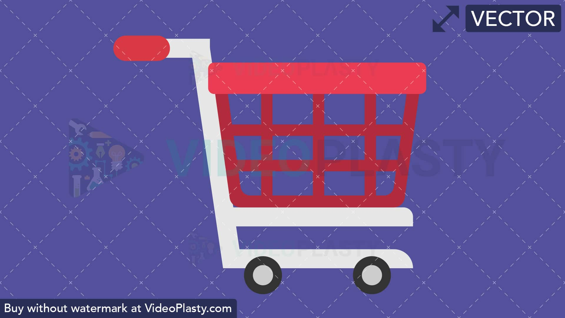 Vector clipart shopping cart graphic Shopping Cart Flat Icon [VECTOR] graphic