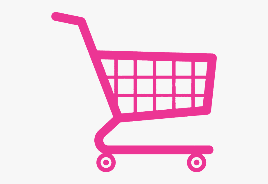 Shopping cart icon clipart clipart black and white stock Pink Shopping Cart Icon - Shopping Cart Logo Transparent ... clipart black and white stock