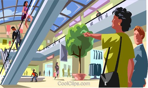 Shopping mall clipart graphic library Shopping mall Royalty Free Vector Clip Art illustration ... graphic library