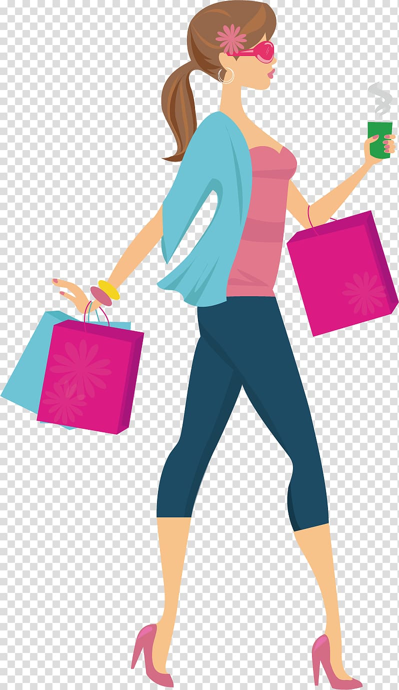 Shopping fashion clipart svg black and white Shopping , Shopping Girl Woman , Shopping fashion girl ... svg black and white