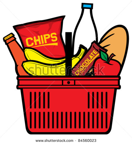 Shopping for food clipart
