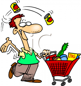 Shopping for food clipart jpg black and white library Shopping Cart With Food Clipart - Clipart Kid jpg black and white library