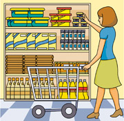 Shopping for food clipart image free library Shopping for food clipart - ClipartFest image free library