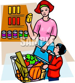 Shopping for food clipart jpg library stock Shopping for food clipart - ClipartFest jpg library stock