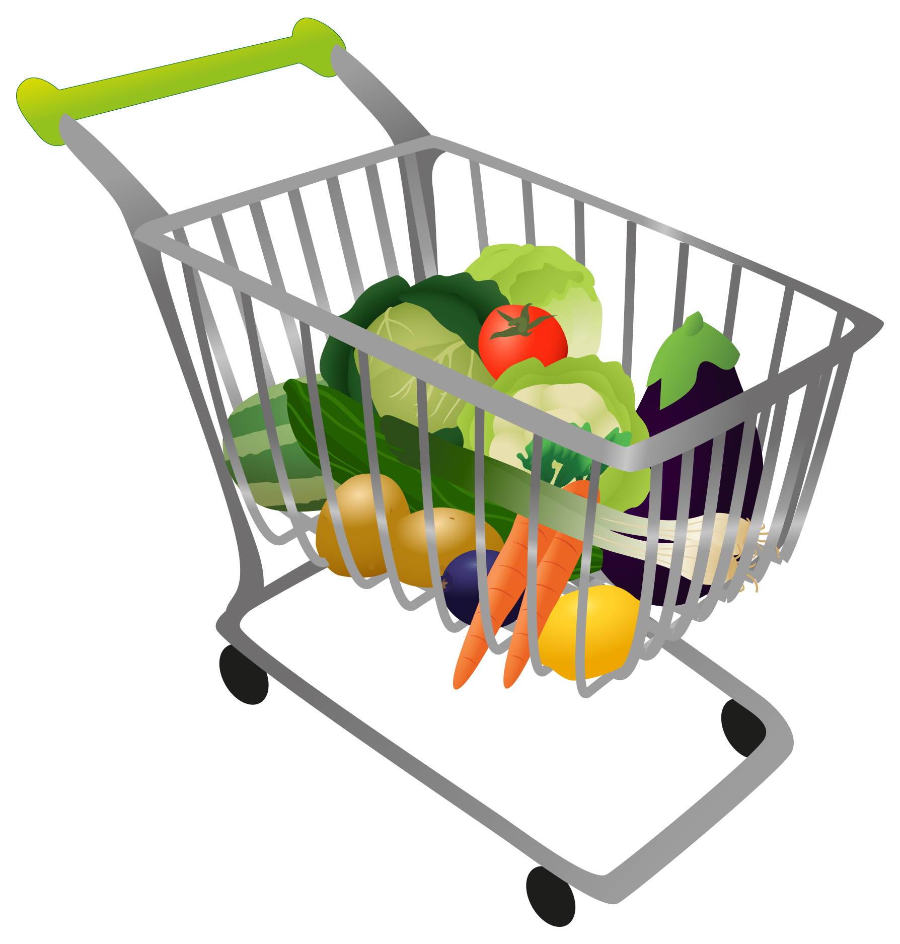 Shopping for food clipart jpg Shopping Cart With Food Clipart - Clipart Kid jpg