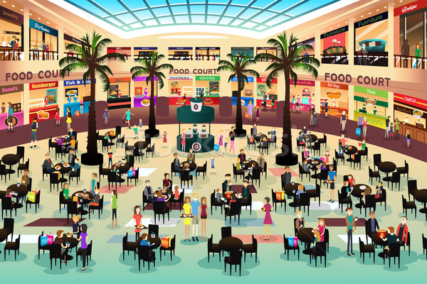 Shopping mall clipart png black and white download Download shopping mall food court clipart Shopping Centre ... png black and white download