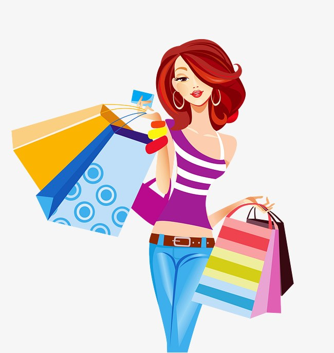 Shoppinh clipart picture black and white stock Lady shopping clipart 5 » Clipart Portal picture black and white stock