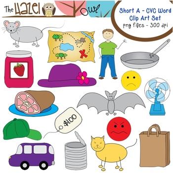 Short a clipart picture library download Short Vowel CVC Word Clip Art - Short a Vowel Sound Set | My ... picture library download