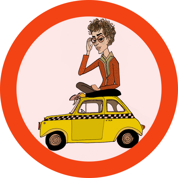 Short girl car sun visor clipart clip download Pierre the Cab Driver — Paper Darts clip download