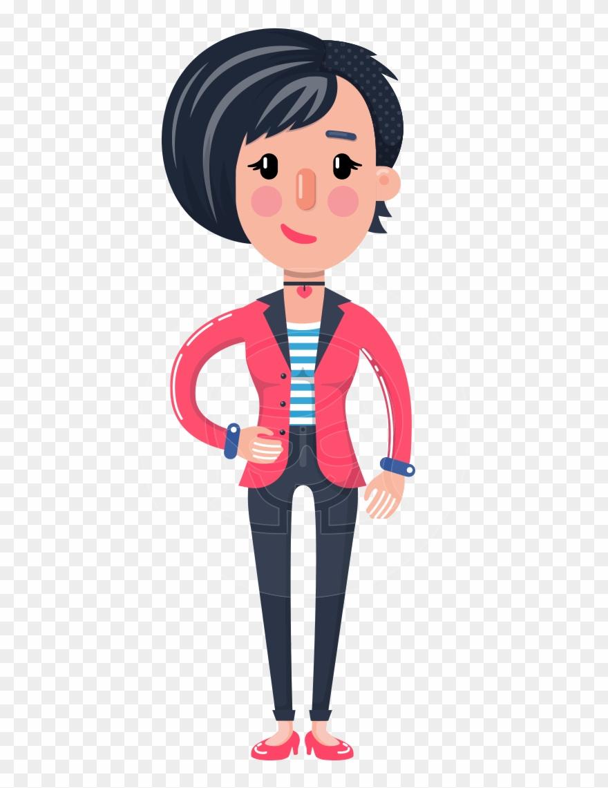 Short hair girl clipart clip art royalty free stock Cartoon Girl With Short Hair Vector Character - Cartoon ... clip art royalty free stock