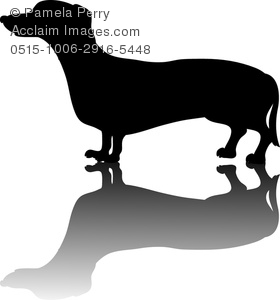 Short weiner dog clipart graphic transparent library Clipart Image of a Dachshund Silhouette graphic transparent library