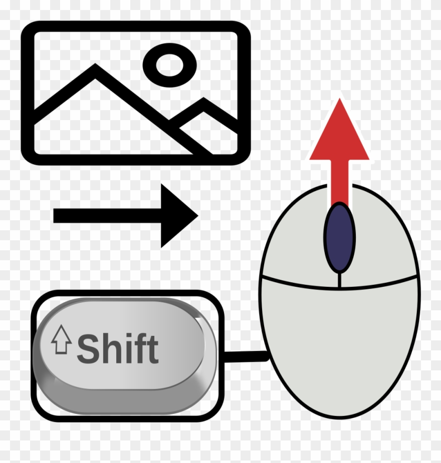 Shortcut clipart clipart Computer Keyboard Mouse Shortcut To Shift Right - Circle ... clipart