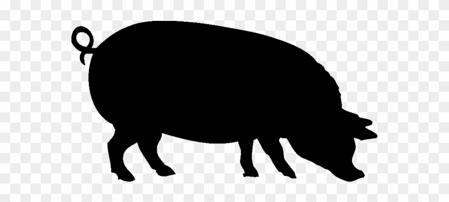 Show pig silhouette clipart library Cochon7 - Pig Silhouette Clipart (#1918715) - PinClipart library